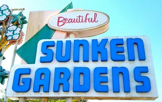 Sunken Gardens Sign